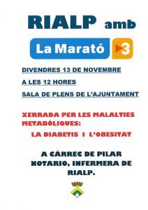 Xerrada per LA MARATo2015